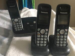 Panasonic cordless phone package.