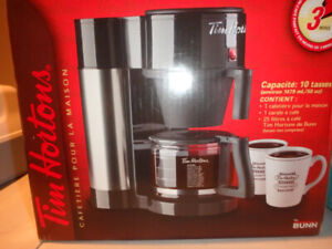Authentic NIB Tim Hortons Coffee Maker 10 Cups