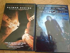 3 movies - Batman Begins,The Dark Knight,Spider-Man 2