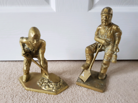 BRASS MINERS ORNAMENTS / FIGURES