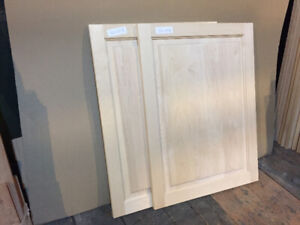 2 New Raised-Panel Maple Cabinet Doors