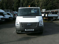 2013/13 FORD TRANSIT T350 125 DRW RWD S/CAB ALUMINIUM DROPSIDE TIPPER DIESEL