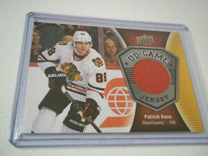 2016-17 UPPER DECK PATRICK KANE BLACKHAWKS GAME JERSEY HOCKEY
