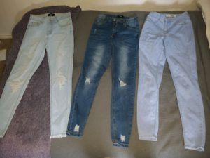 Size small womens jeans & shorts Hectorville Campbelltown Area Preview