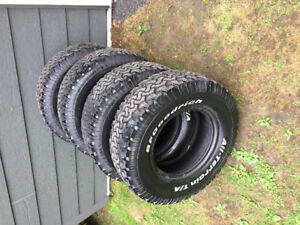4x LT265/75r16 10 plies bf goodrich all terrain ko