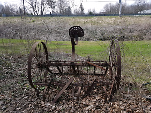 Antique horse-drawn Farm equipment