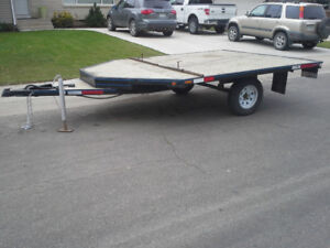 2 PLACE SLED/QUAD TRAILER IN EXC CONDITION $1700 OBO