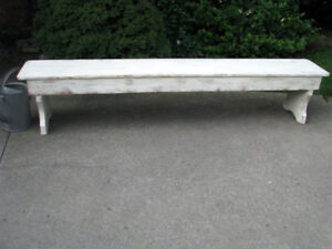 RUSTIC VINTAGE INDOOR SHABBY CHIC LONG BENCH