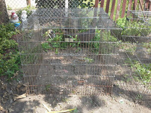 2 outside caged areas for animals