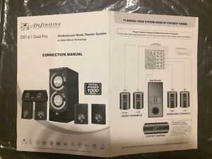 PROFESSIONAL HOME THEATER SYSTEM – MINT CONDITION - $150.00