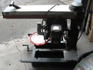 Radial arm saw 10 inch,  single phase120 volts
