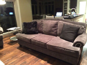 New 3 Piece Studded High Back Custom Grey Couch Set London Ontario image 7