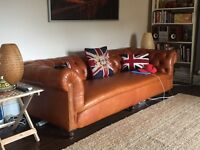 Beautiful Restored Chesterfield Sofa ***Antique Frame***