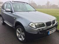 BMW X3 3.0I AUTO SPORT (2004 04 REG) + PANORAMIC ROOF + HEATED LEATHER + SAT NAV