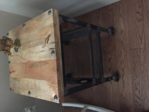 Pier 1 wooden top side table
