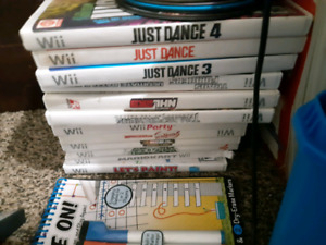 Wii console  and games and extras