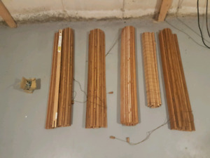 Wood bamboo style blinds 5 sets