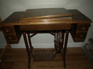 Antique tredle sewing machine