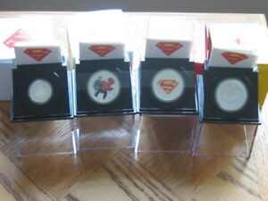 Super Man 2013 Set Of 4 Silver Coins