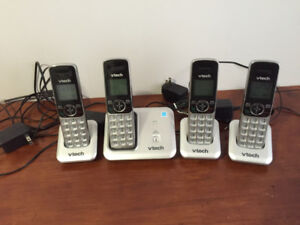 V-Tech 4 Headset Cordless Phone Set.