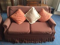 Sofa bed with 2 arm chairs
