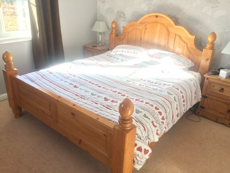 Solid Pine Super King Size Bed
