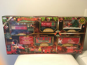 33 Piece Christmas Train set - never opened!