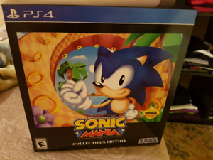 Sonic mania collector's edition ps4 unopened!