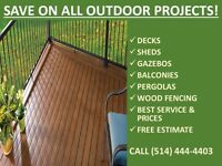 SAVE ON ALL OUTDOOR PROJECTS!