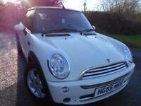 2005 55 MINI CONVERTIBLE 1.6 COOPER 2D 114 BHP ** LEATHER SEATS ,WINTER CONVERTI