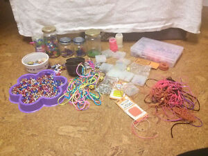 Large Assortment of Bead Crafts