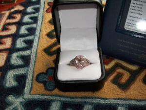 18 KT. ROSE GOLD DIAMOND & MORGANITE