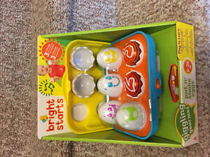 New! Bright starts put n shake eggs