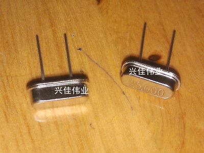 50pcs 25mhz 25 Mhz 25.000m 25.000mhz Crystal Oscillator Quartz Resonator Hc-49