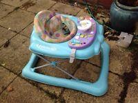 Adjustable baby walker