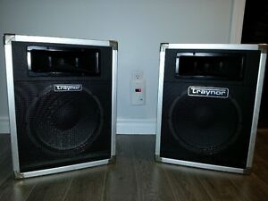 """PAIR OF TRAYNOR AUDIO SPEAKERS (12"""") WITH WIRES"""