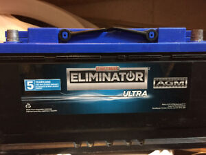 Eliminator Battery - Ultra Series -AGM  by motomaster