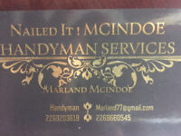 Nailed it ! MCINDOE Handyman Services: