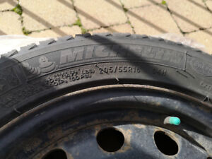 winter tires 205/55/R16 with Rim X41658