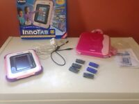 Pink innotab with games,cord,adapter and case!!