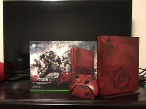 RED 2TB Xbox One S + Gears of War 4 (Rare)