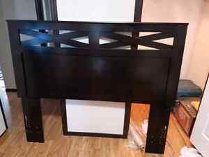 X-cess Queen/Full Panel Headboard With Night Stands