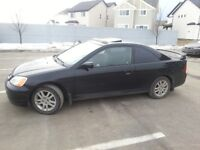 Excellent Black Active Loaded 2003 Honda Civic Coupe!!!!!!!!!OBO