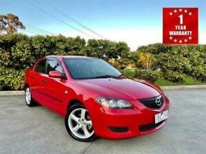 2004 Mazda 3 BK Neo Red 4 Speed Auto Activematic Hatchback Mordialloc Kingston Area Preview