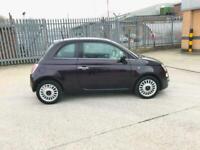 Fiat 500 1.2 Petrol Purple Colour 2013 Low Mileage 1 Year Mot Tax Only £30 Year