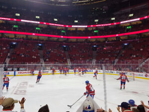 Montreal Canadiens tickets / billets Prestige Centre 112 DD
