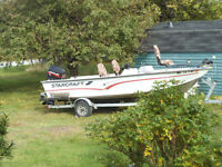 (    BOAT- MOTOR- TRAILER  )  - PRICE DROP.. ( READY TO GO.)