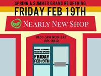Nearly New Shop Spring & Summer Grand Re-Opening Week