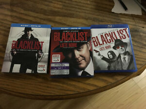 Season 1 to 3 BLACKLIST blueray collection
