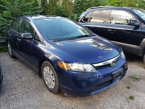 2007 HONDA CIVIC DX SEDAN CERT & ETESTED
